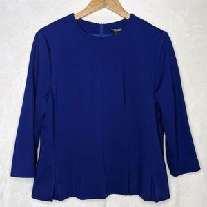 Doncaster 3/4 Sleeve Pleated Peplum Top